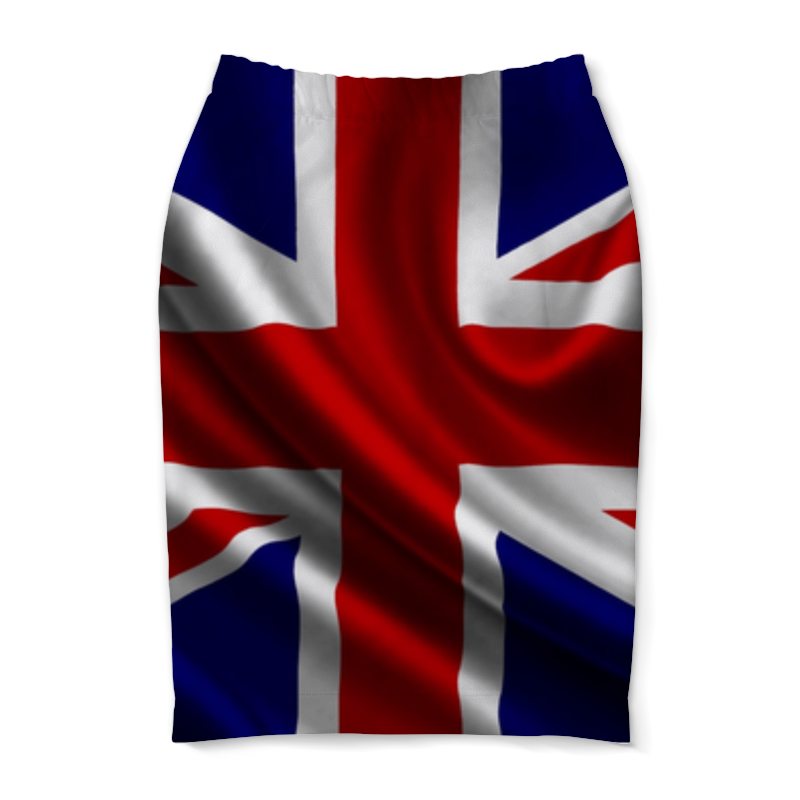 Юбка-карандаш Printio Британский флаг флаг пограничных войск россии великий новгород