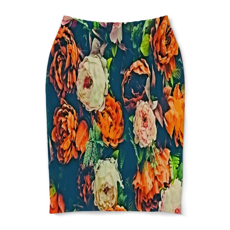 Юбка-карандаш Printio Flowers юбка женская camo flowers