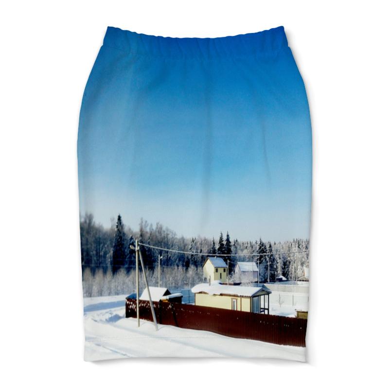 Юбка-карандаш Printio Зима. мороз. солнце. культ платья bracegirdle юбка солнце