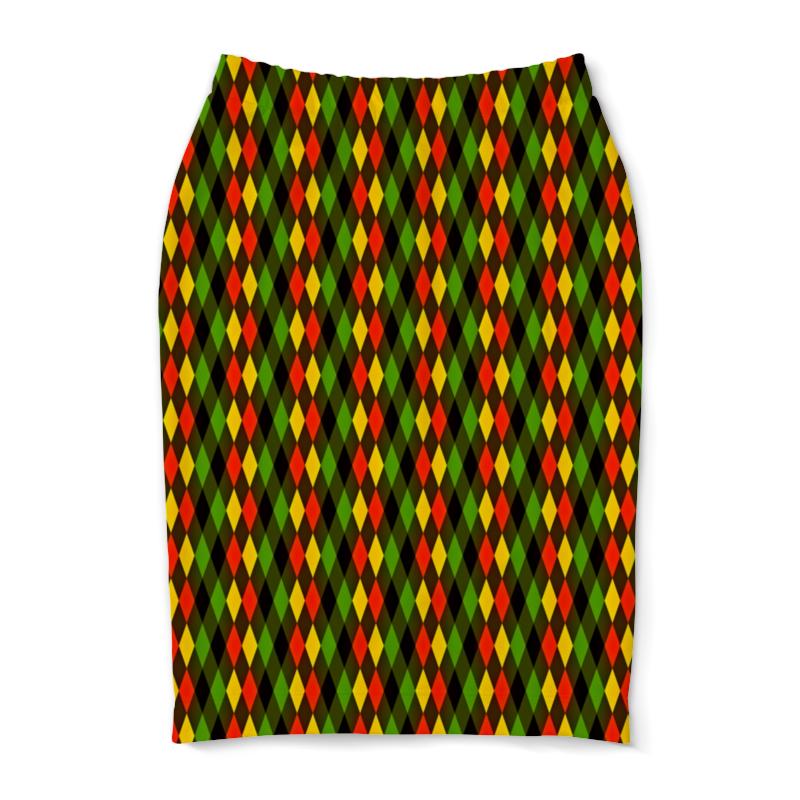 Юбка-карандаш Printio Ромбы цветные юбка карандаш printio цветные волны