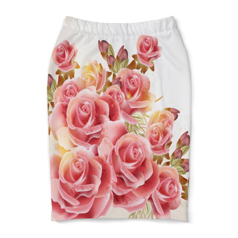 Юбка-карандаш Printio Букет роз