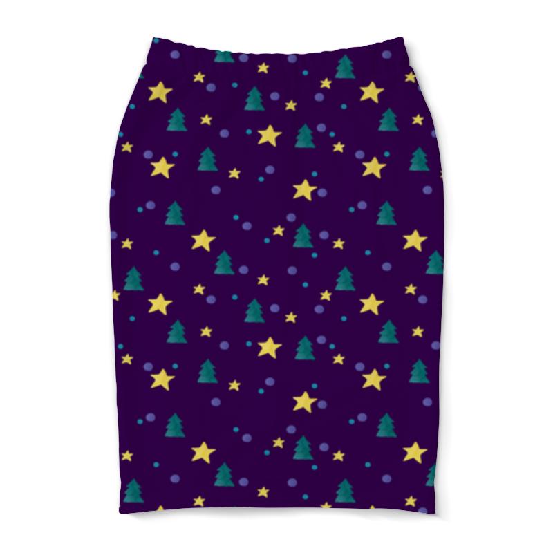 Юбка-карандаш Printio Елки и звезды