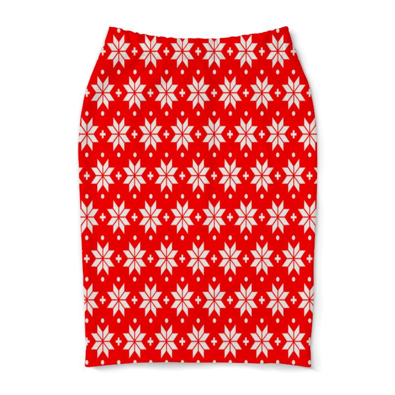 Юбка-карандаш Printio Красно-белый узор ирландский красно белый сеттер украина