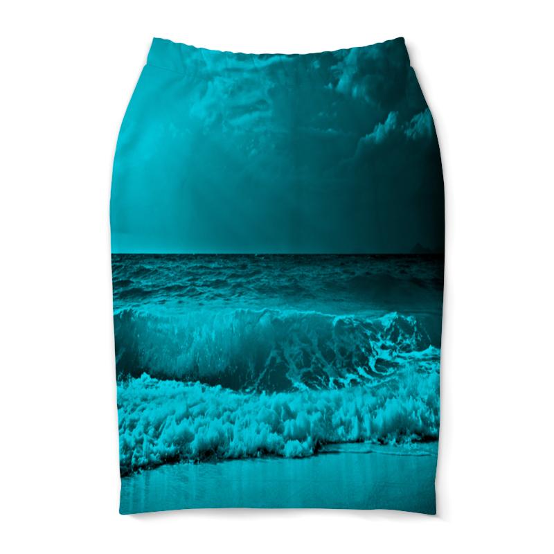 Юбка-карандаш Printio Морские волны юбка карандаш printio цветные волны