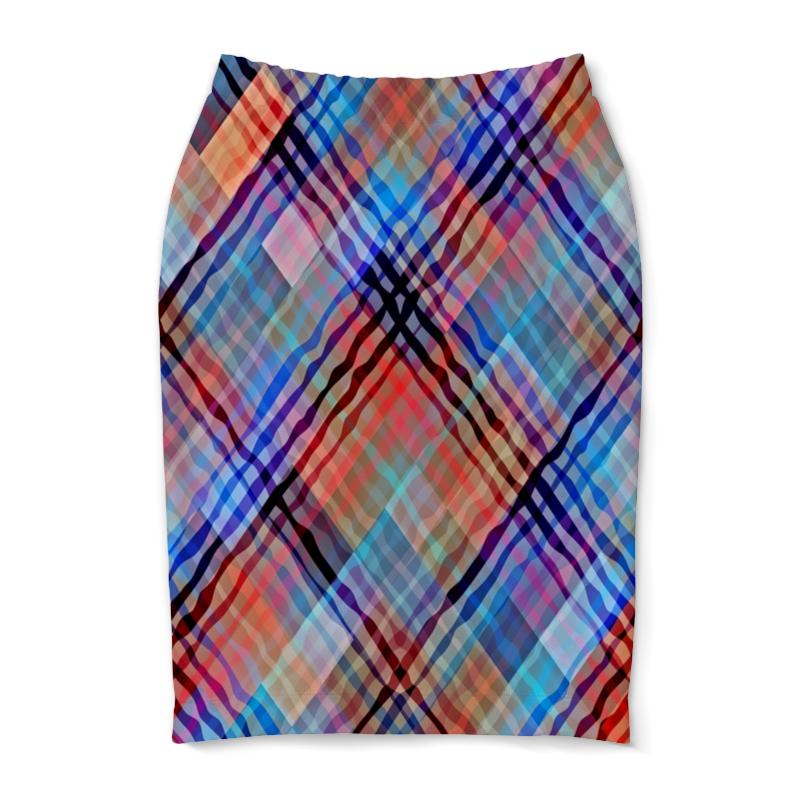 Юбка-карандаш Printio Цветные волны юбка карандаш printio цветные волны