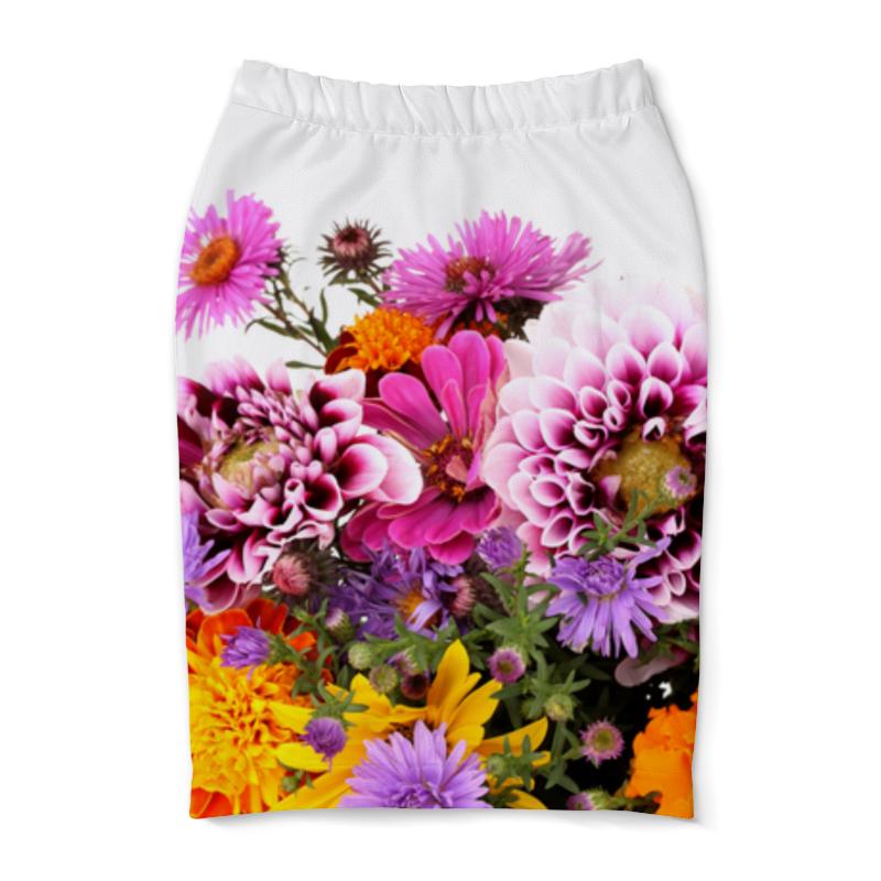 Юбка-карандаш Printio Цветы юбка карандаш printio химия