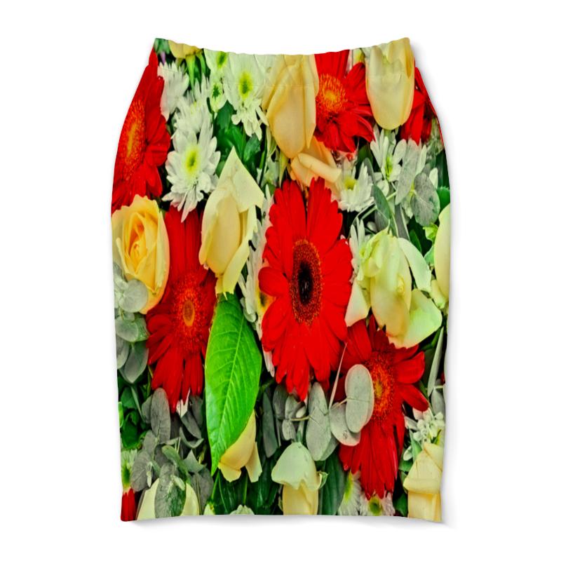 Юбка-карандаш Printio Букет цветов букет из цветов жасмина