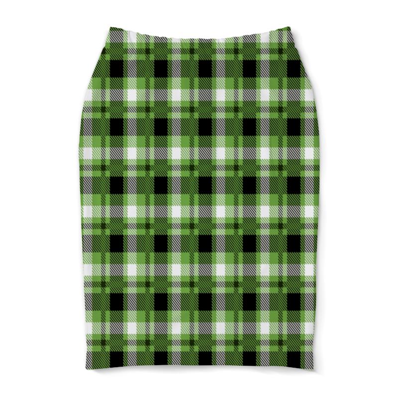 колыбель качалка beeangel зеленая клетка Юбка-карандаш Printio Зеленая клетка