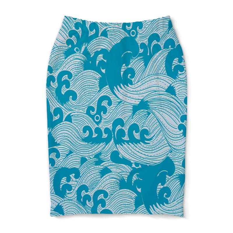 Юбка-карандаш Printio Волны юбка карандаш printio цветные волны