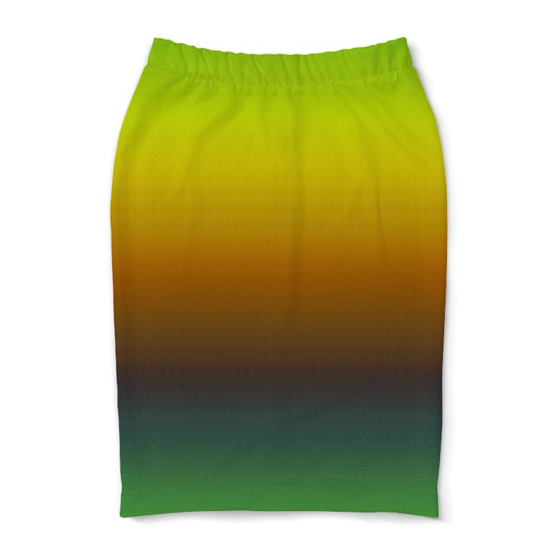 Юбка-карандаш Printio Переход цвета переход
