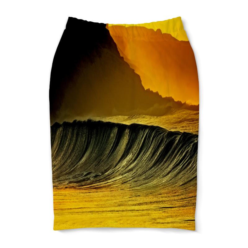Юбка-карандаш Printio Волны моря юбка карандаш printio цветные волны