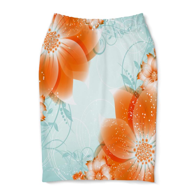 Юбка-карандаш Printio Цветы юбка карандаш printio райский сад