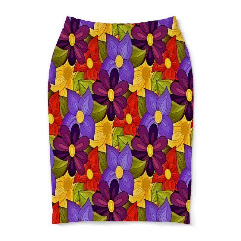Юбка-карандаш Printio Цветочки юбка карандаш printio райский сад