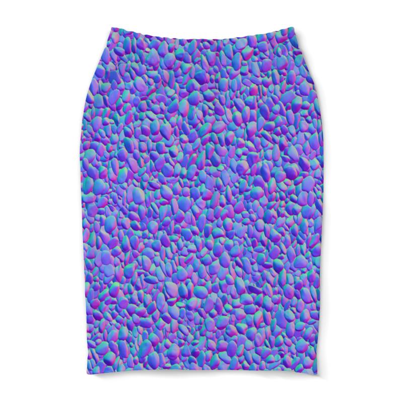 Юбка-карандаш Printio Цветные камни юбка карандаш printio цветные волны