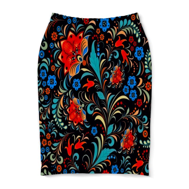 Юбка-карандаш Printio Цветочная роспись юбка карандаш printio цветочная сказка