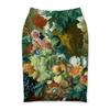 """Юбка-карандаш """"Фрукты и цветы (Ян ван Хёйсум)"""" - картина, живопись, ян ван хёйсум"""