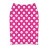 """Юбка-карандаш """"Белый горох"""" - стиль, дизайн, розовый, горох"""