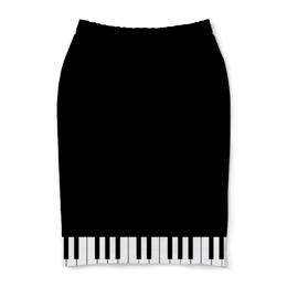 """Юбка-карандаш """"Пианино"""" - музыка, пианино"""