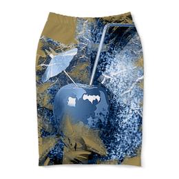 """Юбка-карандаш """"Яблочный микс"""" - напиток, абстракция, яблоко, фрукт, натюрморт"""