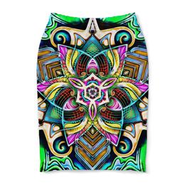 """Юбка-карандаш """"Mandala HD 4"""" - узор, ретро, классика, этно, симметрия"""