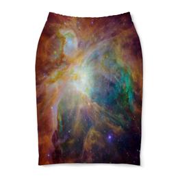 """Юбка-карандаш """"Космические краски"""" - звезды, космос, небо, краски, галактика"""