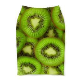 """Юбка-карандаш """"Киви - это наслаждение"""" - фрукты, ягоды, киви, фоны"""