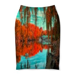 """Юбка-карандаш """"Национальный парк"""" - мир, осень, природа, парк, озеро"""
