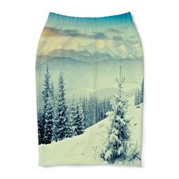 "Юбка-карандаш ""Winter"" - природа, зима, winter, снег, горы"