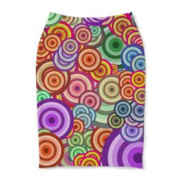 """Юбка-карандаш """"Цветные круги"""" - узор, стиль, круг, абстракция, орамент"""