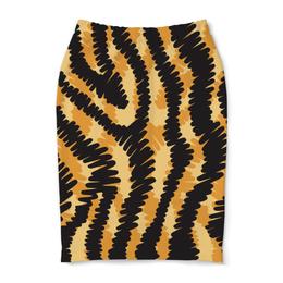 """Юбка-карандаш """"Тигровый"""" - узор, рисунок, полосы, тигровый, звериный"""