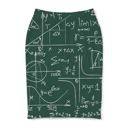 """Юбка-карандаш """"Математика"""" - символы, математика, формулы, графики, константы"""