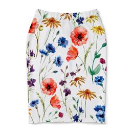 """Юбка-карандаш """"Полевые цветы"""" - красиво, цветы, природа, полевые цветы"""