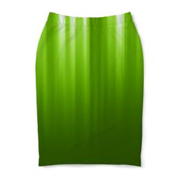"Юбка-карандаш ""Зелёный фон"" - зелёный, дизайн, полосы, графика"