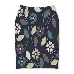 """Юбка-карандаш """"Узор цветочный"""" - узор, весна, листья, природа, цветы"""