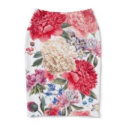 """Юбка-карандаш """"Летние цветы"""" - лето, цветы"""