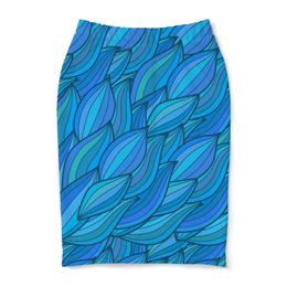 """Юбка-карандаш """"Волны"""" - арт, узор, абстракция, волны, дудл"""