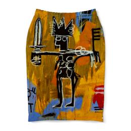 "Юбка-карандаш ""Basquiat / Баския"" - граффити, корона, стрит, basquiat, баския"