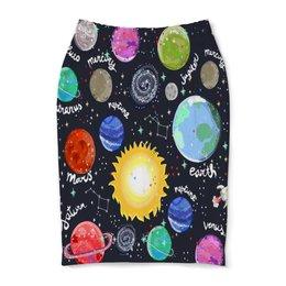 "Юбка-карандаш ""Планеты"" - галактика, созвездия, звезды, космос, планеты"