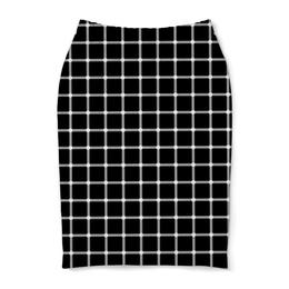 """Юбка-карандаш """"Чёрная клетка"""" - иллюзия, оптика, чёрная клетка"""