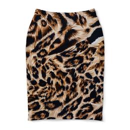 """Юбка-карандаш """"Леопард"""" - кошка, леопард, лео, окрас"""