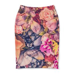 """Юбка-карандаш """"Цветы"""" - любовь, цветы, подарок, пионы, лилии"""