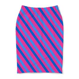 "Юбка-карандаш ""Узор линий"" - линии, полосы, узор, краски, графика"