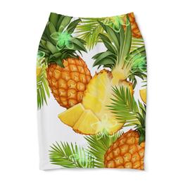 """Юбка-карандаш """"Ананасы"""" - фрукты, рисунок, тропики, ананасы"""