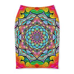 """Юбка-карандаш """"Mandala HD2"""" - узор, ретро, классика, этно, симметрия"""