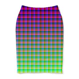 "Юбка-карандаш ""Optical Illusion"" - арт, стиль, дизайн, абстракция, график"