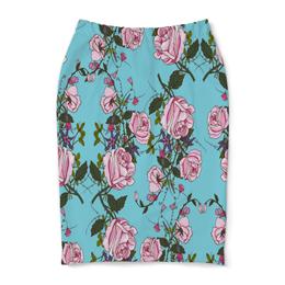 """Юбка-карандаш """"Розы в цвету"""" - цветы, розы, природа, весна, сад"""