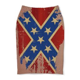 """Юбка-карандаш """"Флаг конфедерации США"""" - арт, америка, флаг, конфедерация, флаг конфедерации"""