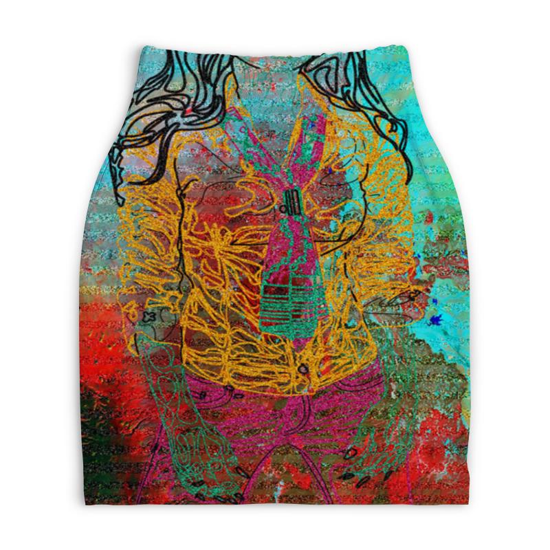 Юбка-карандаш укороченная Printio Шейный платок