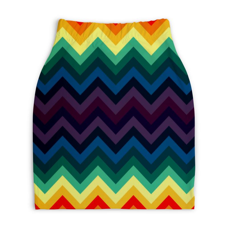 Юбка-карандаш укороченная Printio Радужные полосы юбка карандаш printio цветные полосы