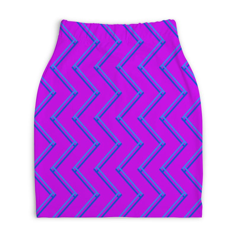 Юбка-карандаш укороченная Printio Синие волны юбка карандаш printio цветные волны